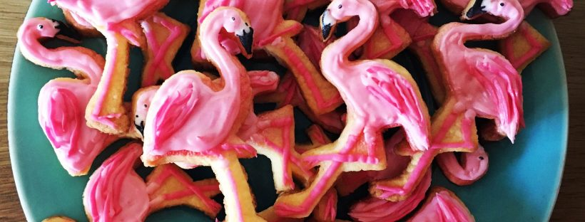flamingo sugar cookies