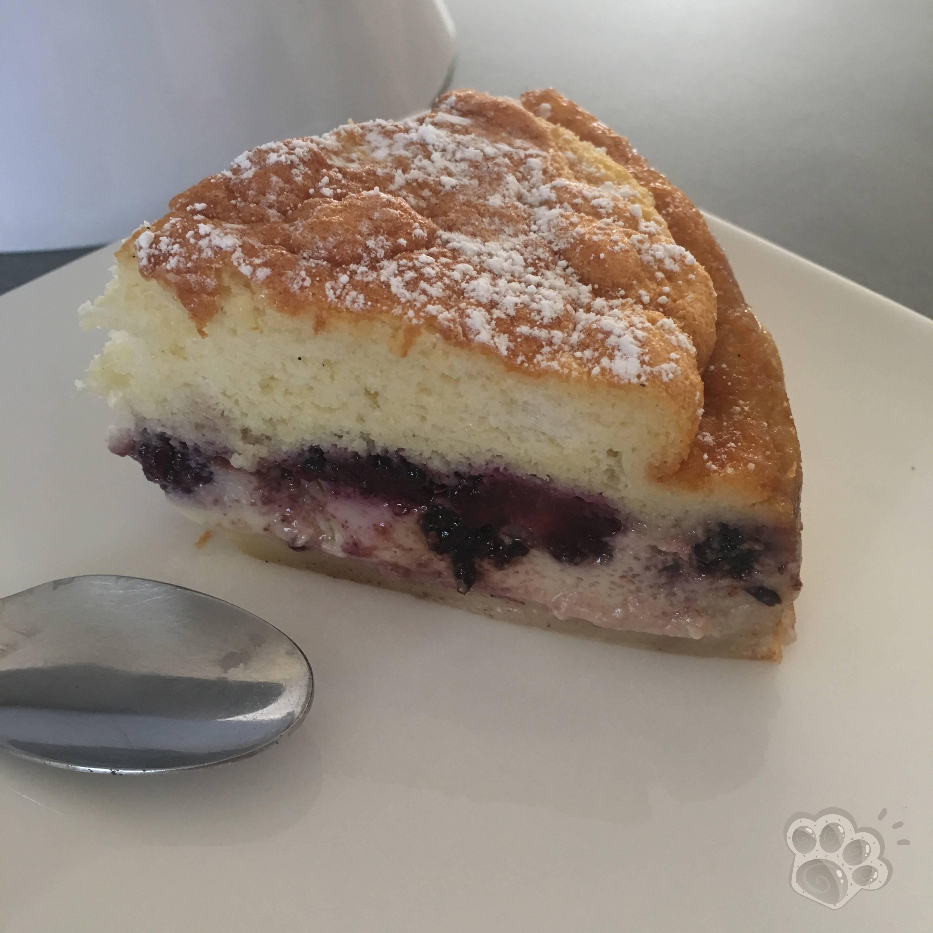 gâteau magique aux mûres