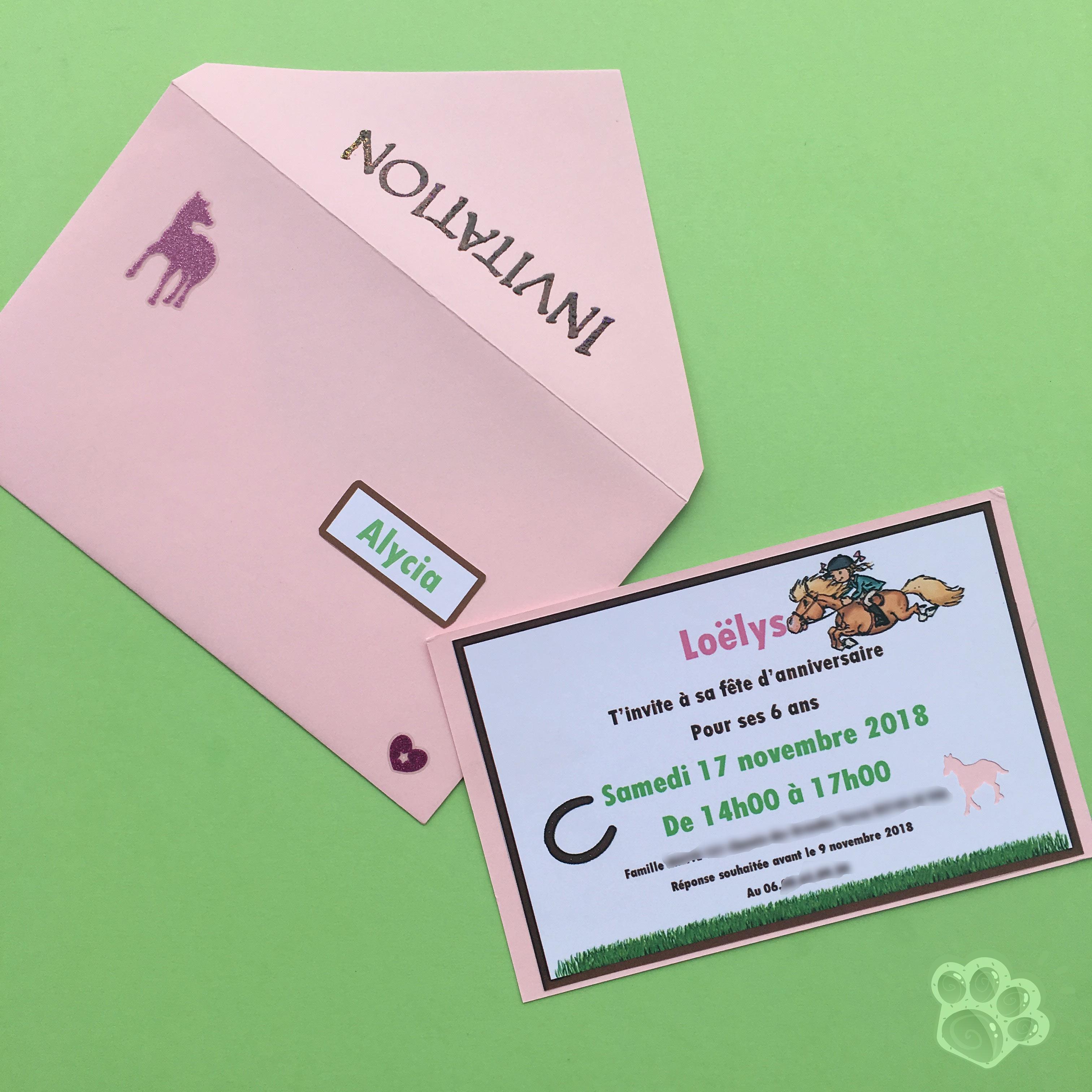 invitations anniversaire poney