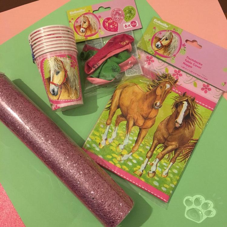 achats fête d'anniversaire poney