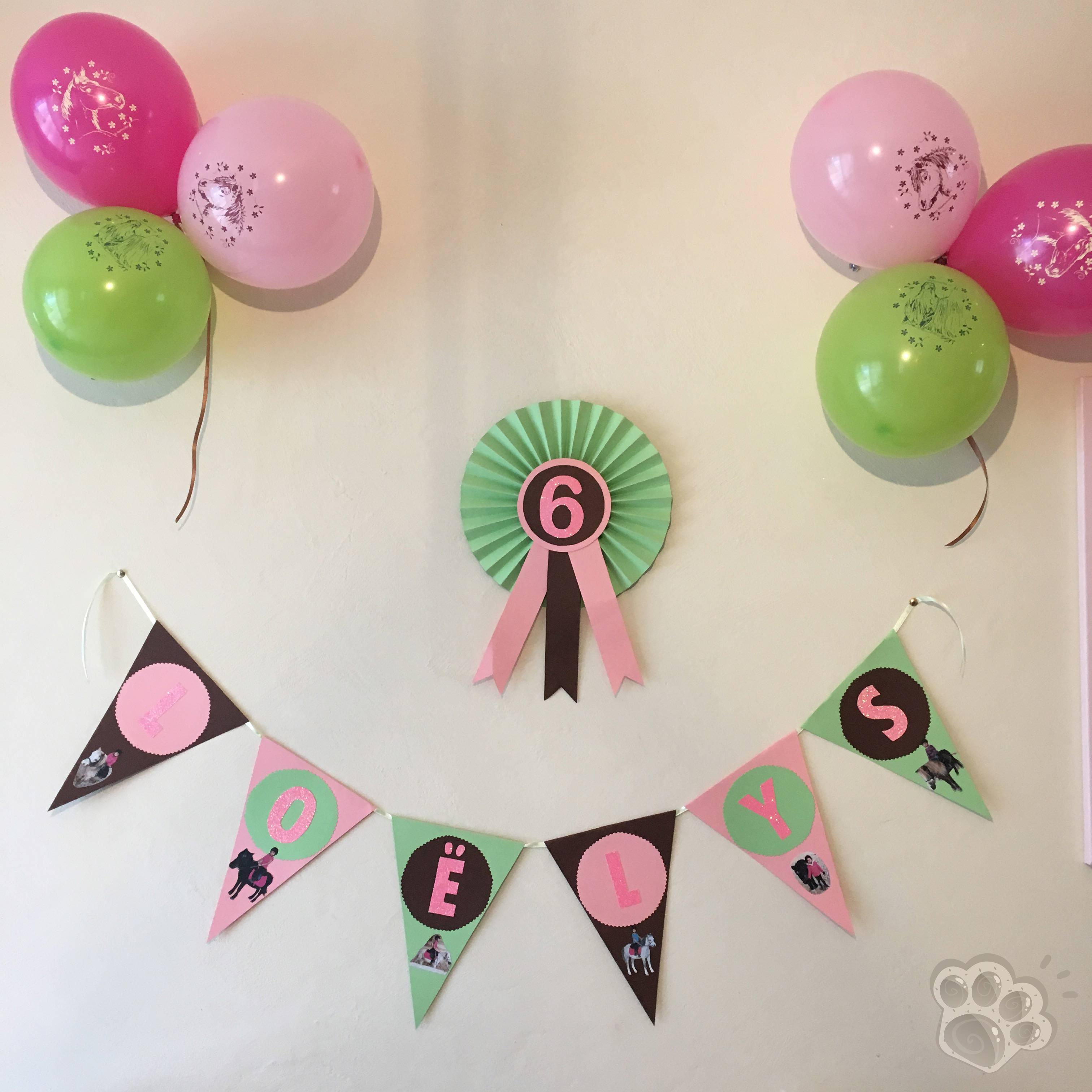 fanions anniversaire poney