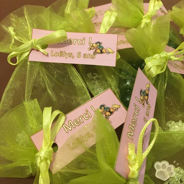 cadeaux invités anniversaire poney