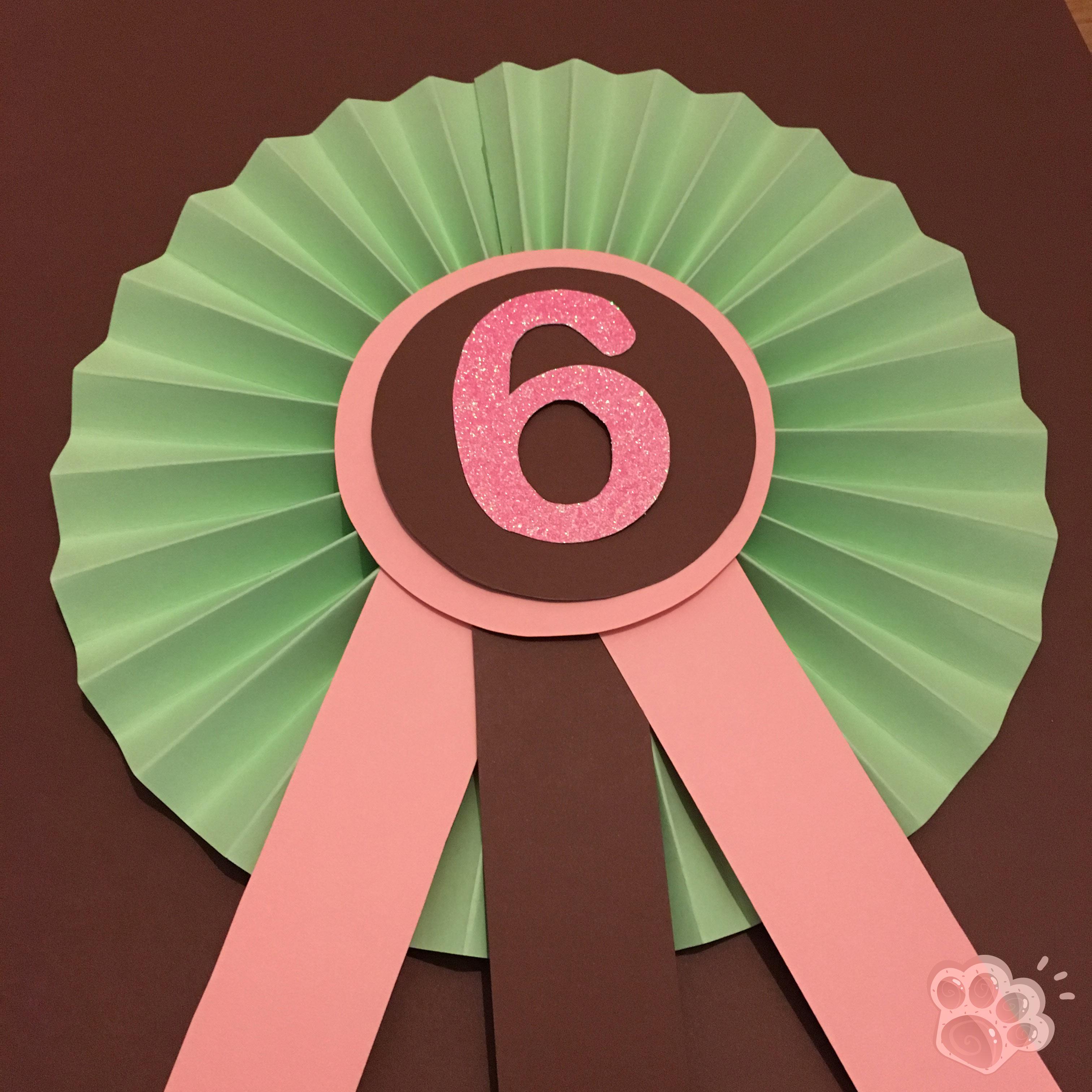 cocarde de concours anniversaire poney