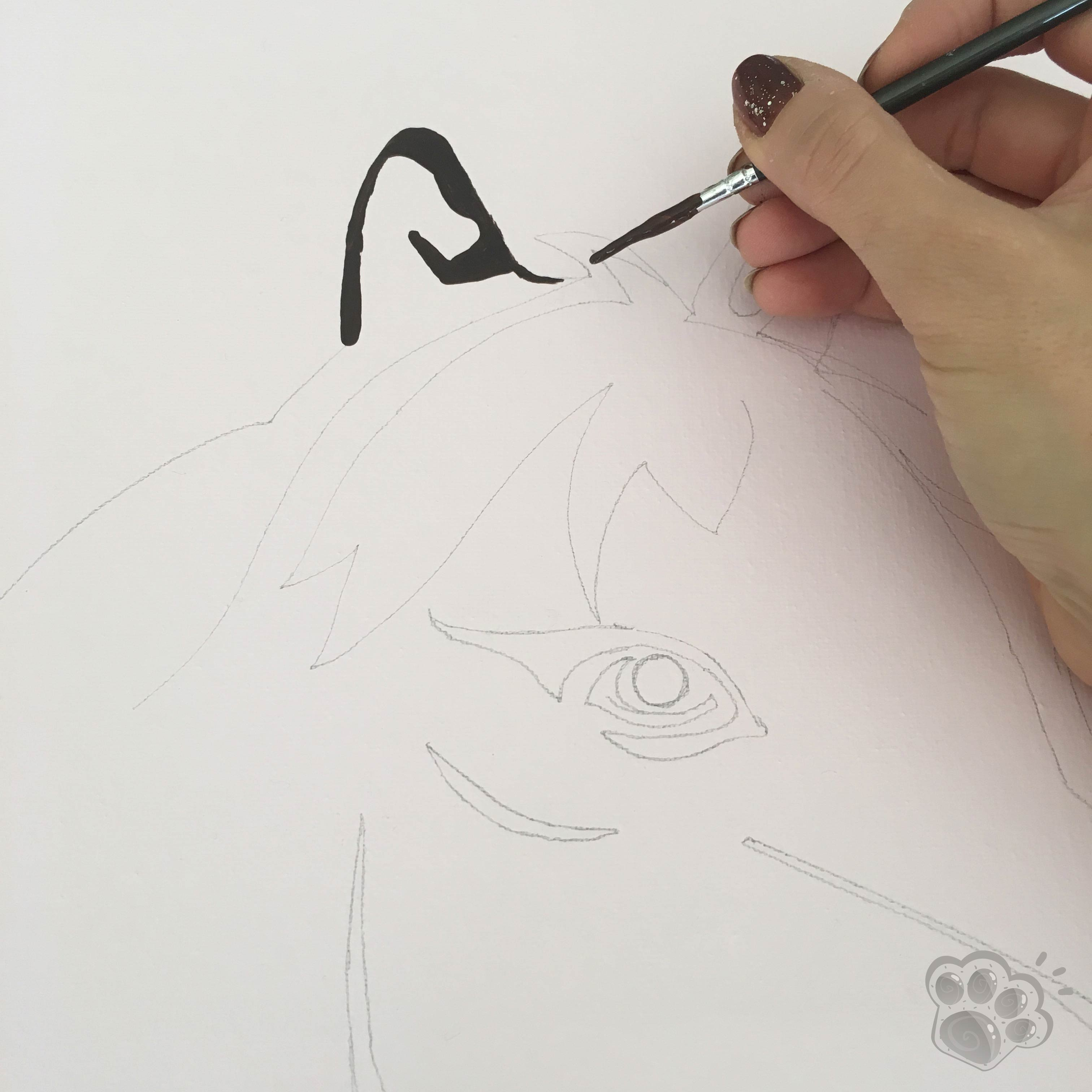 peinture tableau poney