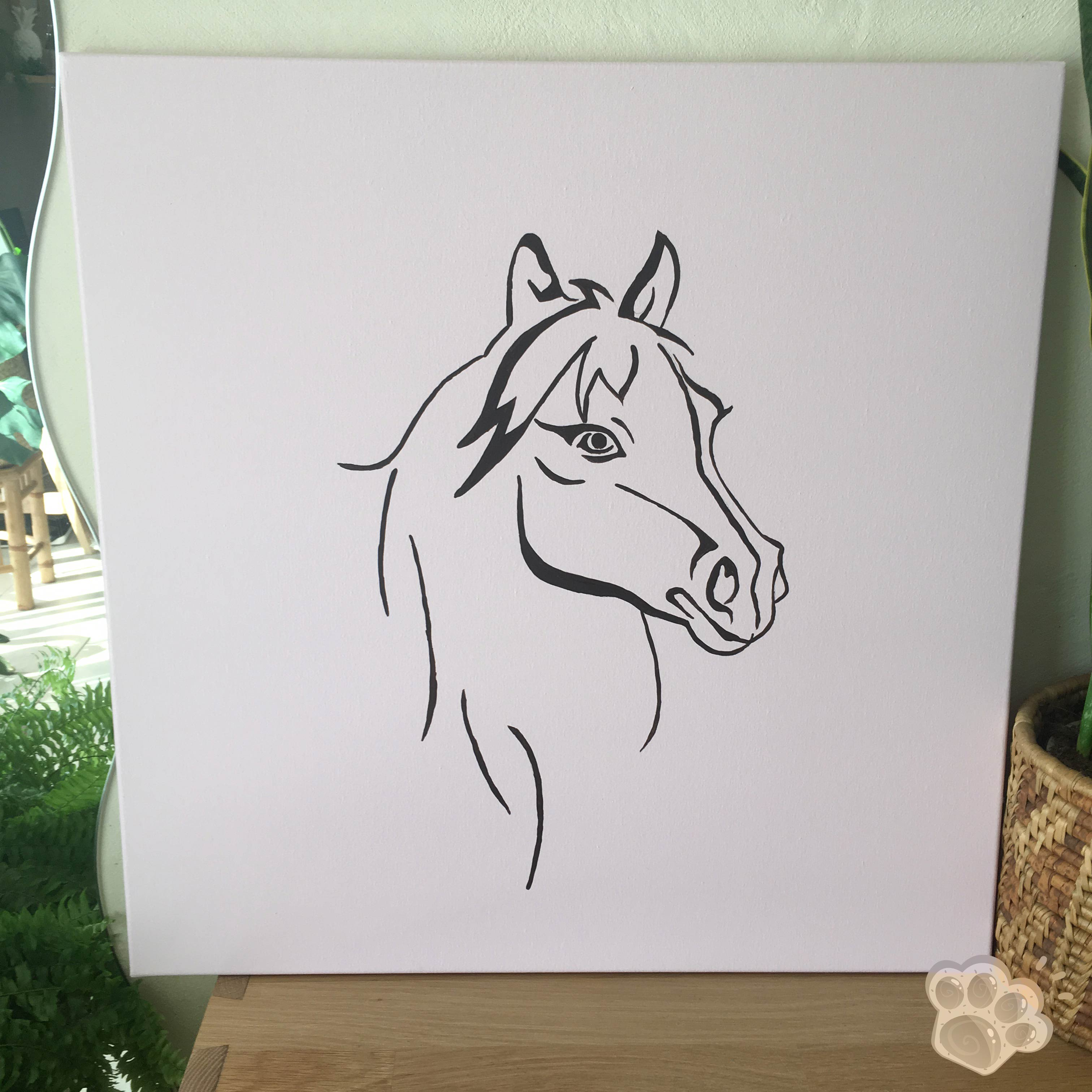tableau poney